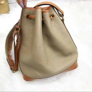 Dooney & Bourke Bags - VTG Dooney & Bourke Drawstring Bucket Bag